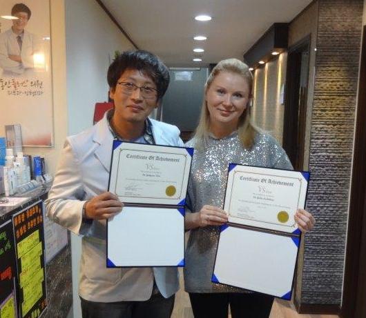 Фото сделано во время стажировки в клинике пластической хирургии и косметологии PLASTIC SURGERY в Сеуле, январь 2015 года.